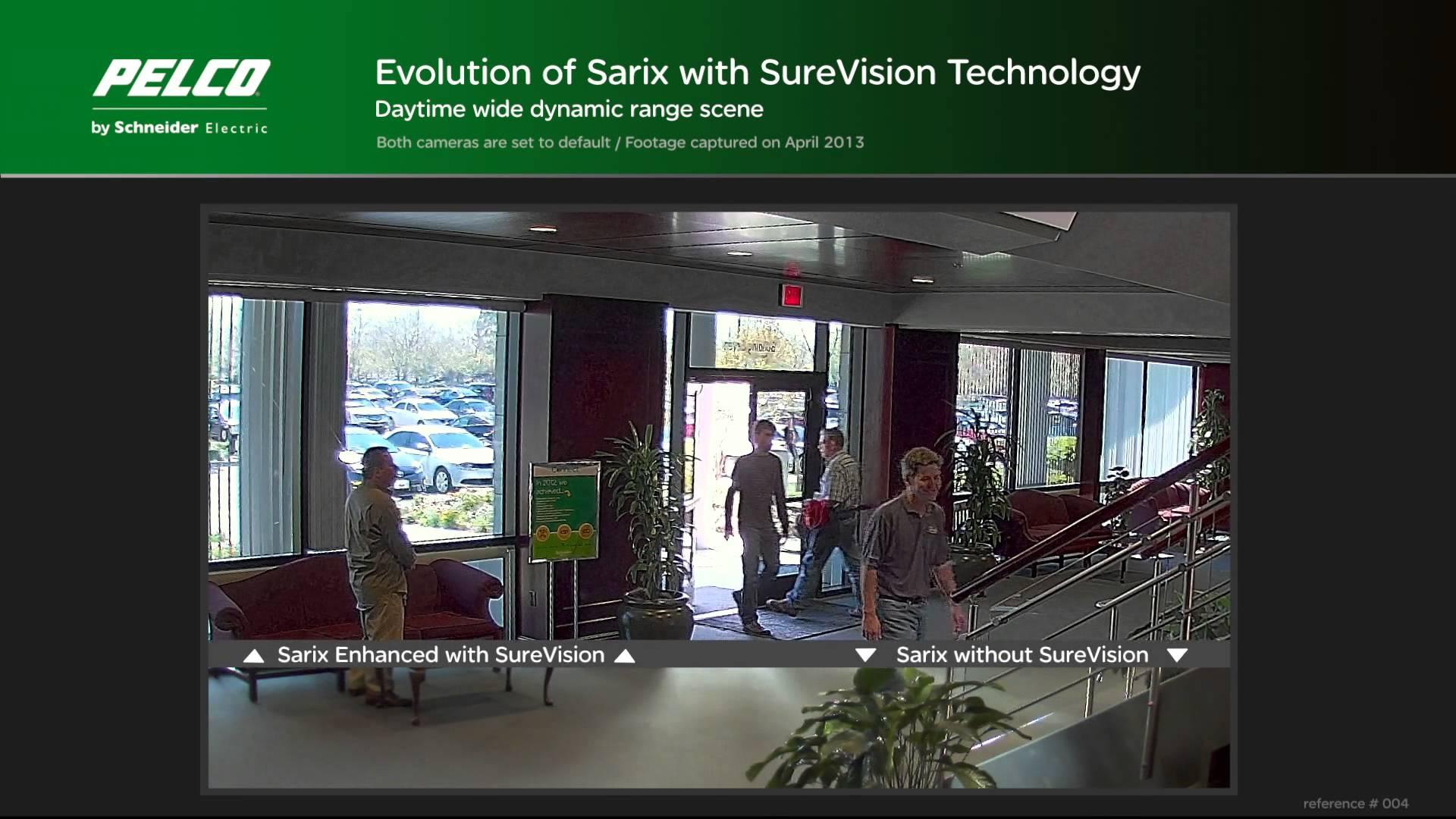 Sarix Enhanced Range IP Camera with SureVision 2.0: WDR - Comparison