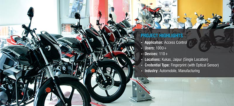 Hero MotoCorp has chosen Matrix access control solution