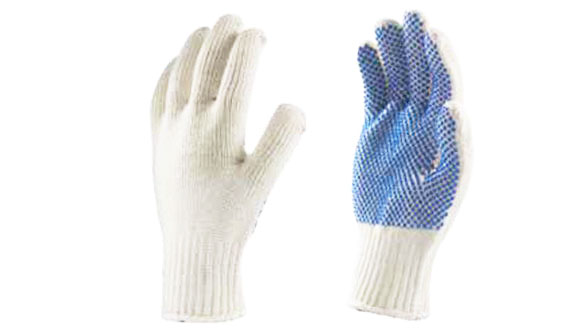 Nylon Knitted Seamless Gloves with PVC Dots