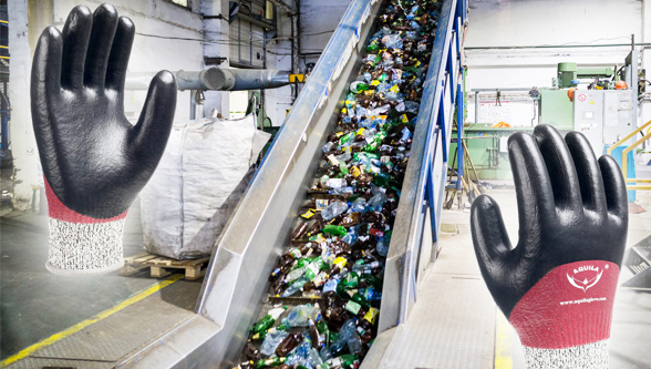 Aquila address waste processing/recycling industry with specialist glove