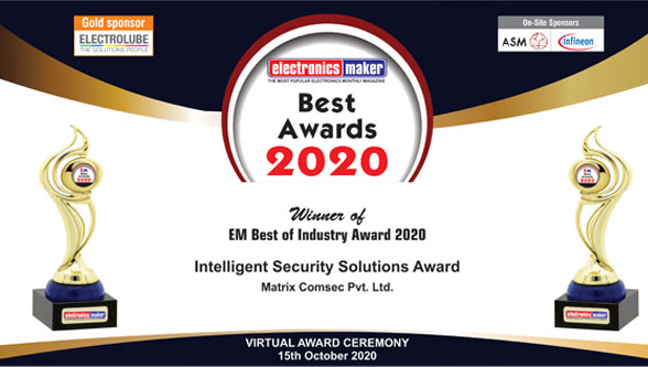 Matrix bags Electronics Maker Award for Best Intelligent Security Solutions Provider